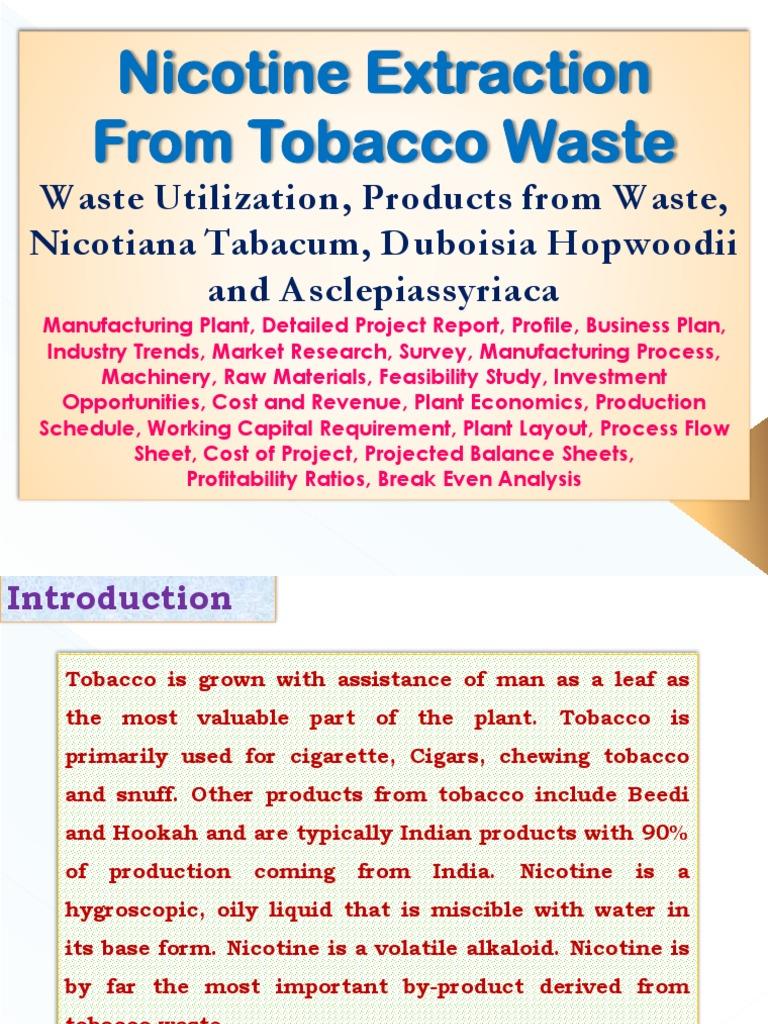 tobacco business plan