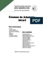 Examen de Admisión UNMSM 2014-I