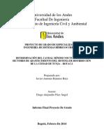 Determinación Del Caudal Mínimo Nocturno en Los Sectores de Abastecimiento Del Sistema de Distribución de La Ciudad de Tunja – Boyacá