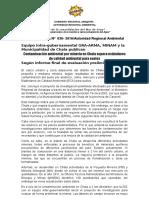 NOTA DE PRENSA N° 036 CONTAMINACIÓN MINERA EN CHALA SUPERA LOS ESTÁNDARES DE CALIDAD