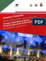 Manifesto Orchestra Giovanile Di Fiati Dell Euregio Riva 20160730
