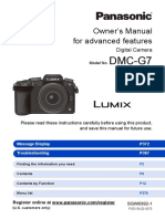 Panasonic Lumix DMC-G7 - Owner's Manual [for Advanced Features]