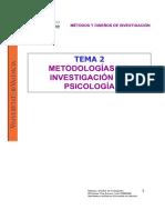 Metodologías de Investigación en Psicología