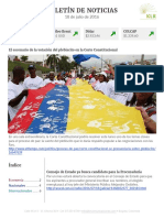 Boletín de noticias KLR 18 de julio de 2016