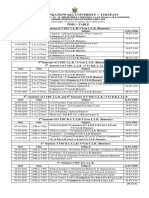 LLB Time Table