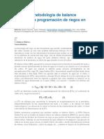 Uso de La Metodología de Balance Hídrico Para Programación de Riegos en Trigo