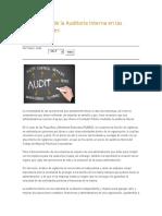 Importancia de La Auditoría Interna en Las Organizaciones Xiomi