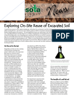 13-newsletter - exploring on-site reuse of excavated soil