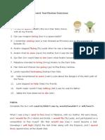 Achievement Test - Review - Exercises - Answer Key