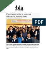 12-07-2016 Puebla on Line - Puebla Respalda La Reforma Educativa, Reitera RMV