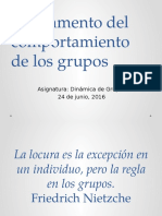 Fundamento Del Comportamiento de Los Grupos