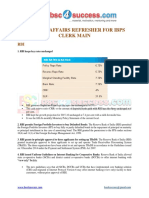 CA Refresher for IBPS Clerk Main