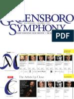 The Greensboro Symphony Orchestra 2016-2017 Season Brochure