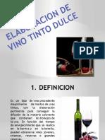 Elaboracion de Vino Tinto Dulce