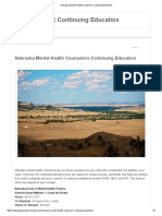 Nebraska Mental Health Counselors Continuing Education