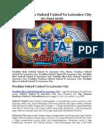 Prediksi Bola Oxford United Vs Leicester City 20 Juni 2016