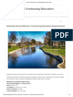 Nebraska Social Workers Continuing Education Requirements
