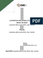 Instrucțiuni - Prima Pagina