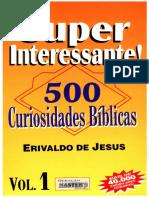 Erivaldo de Jesus - SUPER INTERESSANTE! - 500 Curiosidades Bíblicas I