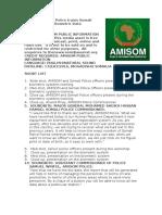 AMISOM Police trains Somali Police Force on Biometric Data Management
