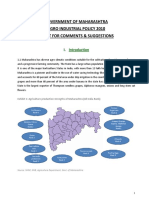 Draft Agro Industrial Policy 2010