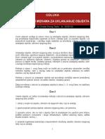 Odluka o Uslovima i Merama Za Uklanjanje Objekta