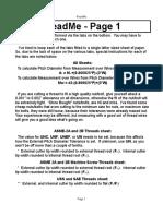ASME 2A_2B - Inch Thread Calculator