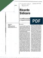 Sidicaro - La Política Procesista y La Guerra de Malvinas