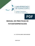Manual de Prácticas de Fotointerpretacion