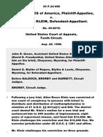 United States v. Klein, 93 F.3d 698, 10th Cir. (1996)