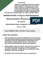 United States v. McIlroy, 132 F.3d 44, 10th Cir. (1997)