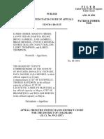 Crider v. Bd. of County Comm'r, 246 F.3d 1285, 10th Cir. (2001)