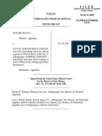 Chavez v. City of Albuquerque, 402 F.3d 1039, 10th Cir. (2005)