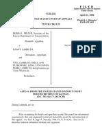 Miller v. Lambeth, 443 F.3d 757, 10th Cir. (2006)