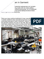 7 Wastes of Lean in Garment Manufacturing