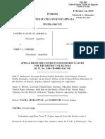 United States v. Corber, 596 F.3d 763, 10th Cir. (2010)
