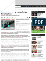 Ranked Choice a Rank Choice for Elections