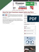 Race for San Francisco Mayor Lacks Any Flare