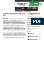 San Francisco's Ranked-choice Voting Put to the Test