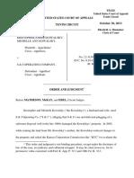 Kowalsky v. S & J Operating Company, 10th Cir. (2013)