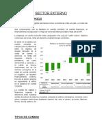 Sector Externo Economia
