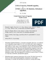 United States v. Louis Martin Radetsky, A/K/A L. M. Radetsky, 535 F.2d 556, 10th Cir. (1976)