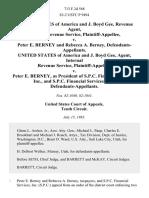 United States of America and J. Boyd Gee, Revenue Agent, Internal Revenue Service v. Peter E. Berney and Rebecca A. Berney, United States of America and J. Boyd Gee, Agent, Internal Revenue Service v. Peter E. Berney, as President of S.P.C. Financial Services, Inc., and S.P.C. Financial Services, Inc., 713 F.2d 568, 10th Cir. (1983)