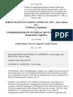Jobco Manufacturing Company, Inc., A/K/A Jobco, Inc. v. Commissioner of Internal Revenue Service, 951 F.2d 1259, 10th Cir. (1991)