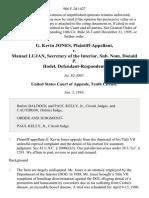 G. Kevin Jones v. Manuel Lujan, Secretary of the Interior. Sub. Nom. Donald P. Hodel, Defendant-Respondent, 986 F.2d 1427, 10th Cir. (1993)