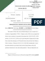 Hopson v. State of Kansas, 10th Cir. (2012)