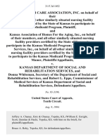 Kansas Health Care Association, Inc. On Behalf of Their Members and All Other Similarly Situated Nursing Facility Providers Certified by the State of Kansas to Participate in the Medicaid Program, and Kansas Association of Homes for the Aging, Inc., on Behalf of Their Members, and All Other Similarly Situated Nursing Facility Providers Certified by the State of Kansas to Participate in the Kansas Medicaid Program Top Management Services, Inc., on Behalf of All Other Similarly Situated Nursing Facility Providers Certified by the State of Kansas to Participate in the Kansas Medicaid Program, D/B/A Sunset Manor v. Kansas Department of Social and Rehabilitation Services, and Donna Whiteman, Secretary of the Department of Social and Rehabilitation Services, and Robert L. Epps, Commissioner of Medical Services of Kansas Department of Social and Rehabilitation Services, 31 F.3d 1052, 10th Cir. (1994)