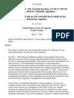 45 soc.sec.rep.ser. 338, unempl.ins.rep. (Cch) P 14071b Amy L. Bolin v. Secretary of Health and Human Services, 32 F.3d 449, 10th Cir. (1994)