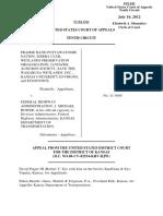 Prairie Band Pottawatomie v. Federal Highway Administration, 10th Cir. (2012)