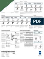 GD&T Form and Position Tolerances